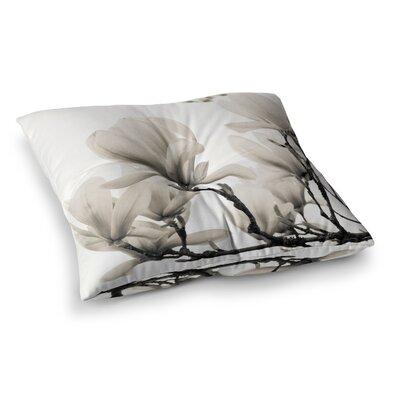 Magnolia Blossoms Floral by Iris Lehnhardt Floor Pillow Size: 26 x 26