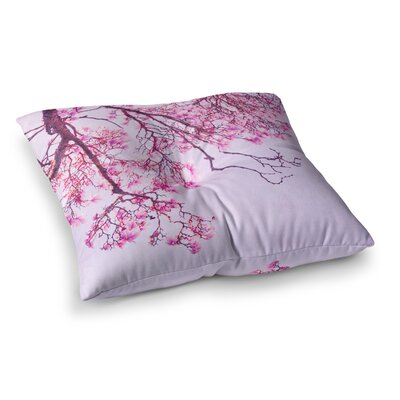 Magnolia Trees Branches by Iris Lehnhardt Floor Pillow Size: 23 x 23