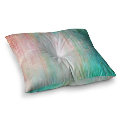 Color Wash by Iris Lehnhardt Floor Pillow Size: 26 x 26, Color: Teal/Blue/Turquoise
