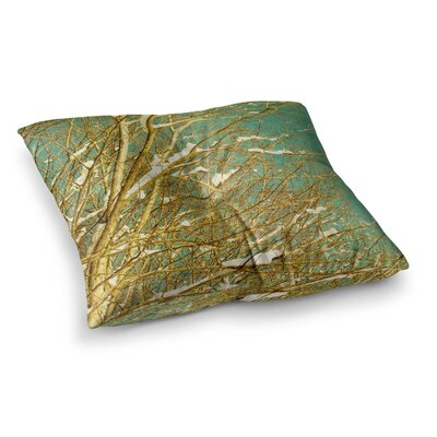 Snow Covered Twigs by Iris Lehnhardt Floor Pillow Size: 23 x 23