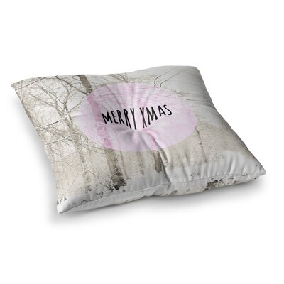 Merry Xmas Holiday by Iris Lehnhardt Floor Pillow Size: 26 x 26