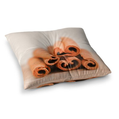 Cinnamon by Iris Lehnhardt Floor Pillow Size: 26 x 26, Color: Brown