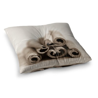 Cinnamon by Iris Lehnhardt Floor Pillow Size: 26 x 26, Color: Sepia/Gray