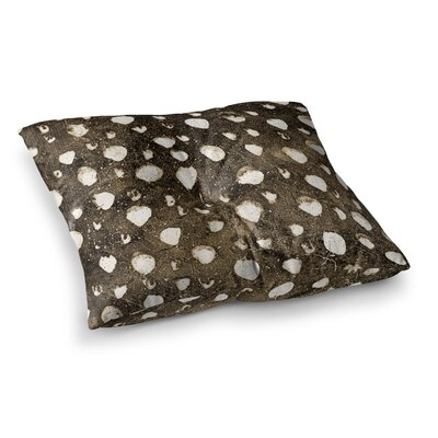 Dots Grunge by Iris Lehnhardt Floor Pillow Size: 26 x 26