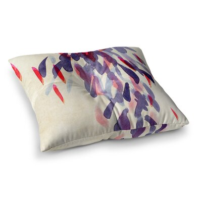 Abstract Leaves IV by Iris Lehnhardt Floor Pillow Size: 26 x 26