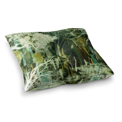Tree of Life by Iris Lehnhardt Floor Pillow Size: 23 x 23, Color: Nature Green