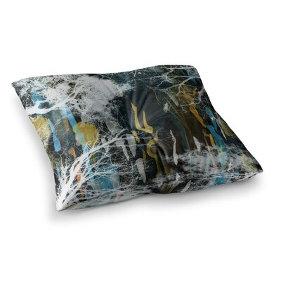 Tree of Life by Iris Lehnhardt Floor Pillow Size: 23 x 23, Color: Blue