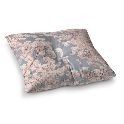 Rosy Sky Floral by Iris Lehnhardt Floor Pillow Size: 26 x 26