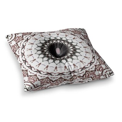 Water Color Mandala 5 Mixed Media by Iris Lehnhardt Floor Pillow Size: 26 x 26