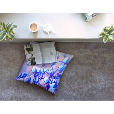 Floral Abstraction 6 Photography by Iris Lehnhardt Floor Pillow Size: 23 x 23