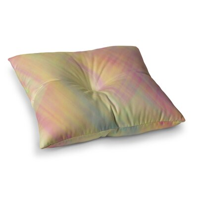 Pastel Abstract by Ingrid Beddoes Floor Pillow Size: 26 x 26