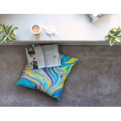 Swirl by Ingrid Beddoes Floor Pillow Size: 26 x 26