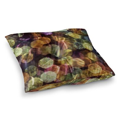 Warm Sparkle by Ingrid Beddoes Floor Pillow Size: 23 x 23