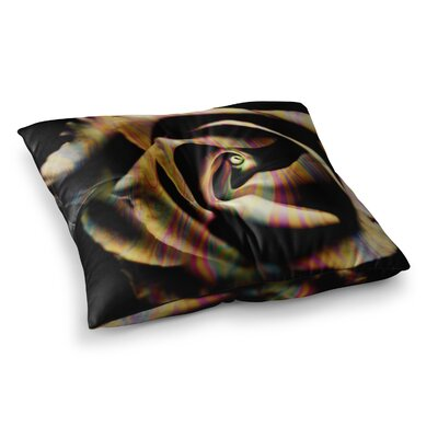 Rose Swirl by Ingrid Beddoes Floor Pillow Size: 23 x 23