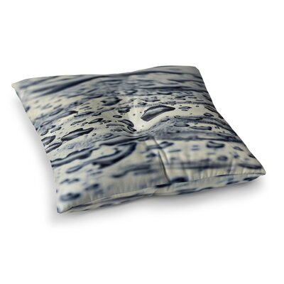 Ice Raindrops by ingrid Beddoes Floor Pillow Size: 26 x 26