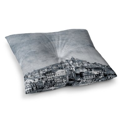 A Riberia City by Ingrid Beddoes Floor Pillow Size: 23 x 23