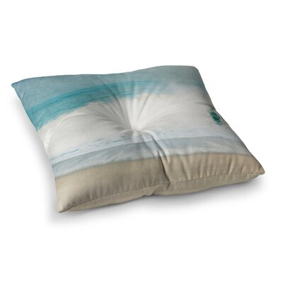 Ocean Wave by Ingrid Beddoes Floor Pillow Size: 26 x 26