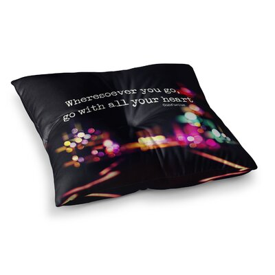 Road Trip Neon by Ingrid Beddoes Floor Pillow Size: 23 x 23