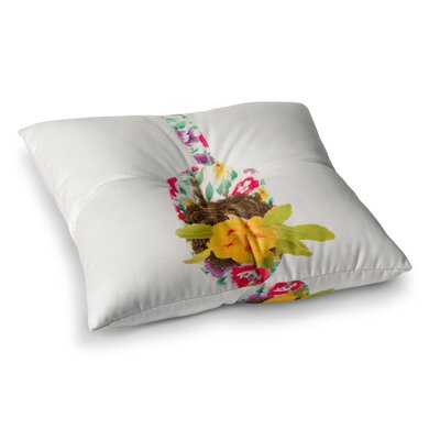 The Gardener by ingrid Beddoes Floor Pillow Size: 26 x 26