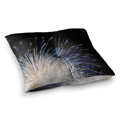 Firework Pastel by Jillian Audrey Floor Pillow Size: 23 x 23