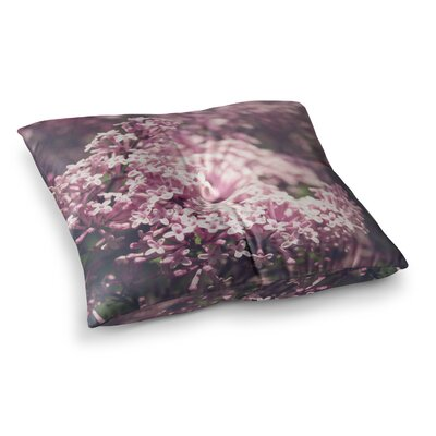 Lilacs Floral by Jillian Audrey Floor Pillow Size: 26 x 26