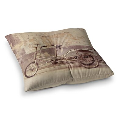 The Bicycle Photography by Jillian Audrey Floor Pillow Size: 26 x 26