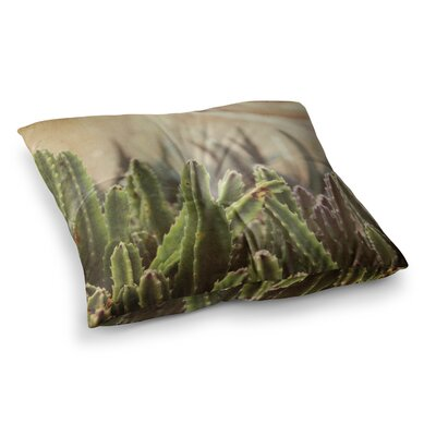 Grass Cactus by Jillian Audrey Floor Pillow Size: 26 x 26
