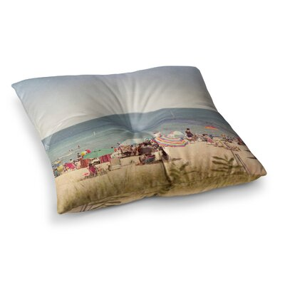 Summertime by Jillian Audrey Floor Pillow Size: 26 x 26