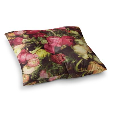 Ranunculus by Jillian Audrey Floor Pillow Size: 26 x 26