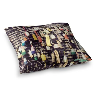 Hanging Buoys by Jillian Audrey Floor Pillow Size: 23 x 23