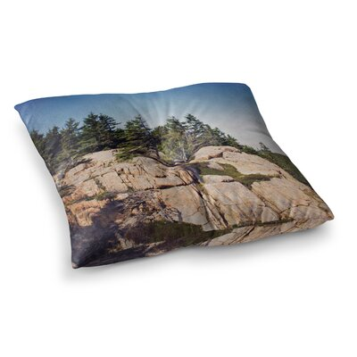 Windswept Cliffs by Jillian Audrey Floor Pillow Size: 23 x 23