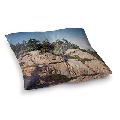 Windswept Cliffs by Jillian Audrey Floor Pillow Size: 26 x 26
