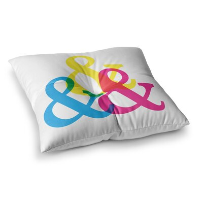 CYMK Ampersands by Jackie Rose Floor Pillow Size: 26 x 26
