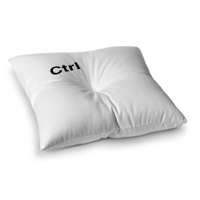 Ctrl by Jackie Rose Floor Pillow Size: 23 x 23