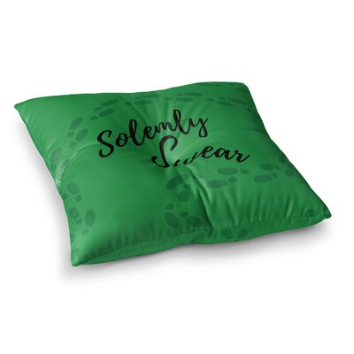 Solemly Swear Illustration by Jackie Rose Floor Pillow Size: 26 x 26
