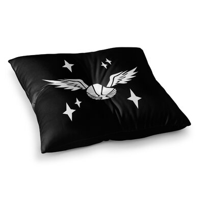 Golden Snitch Fantasy by Jackie Rose Floor Pillow Size: 26 x 26