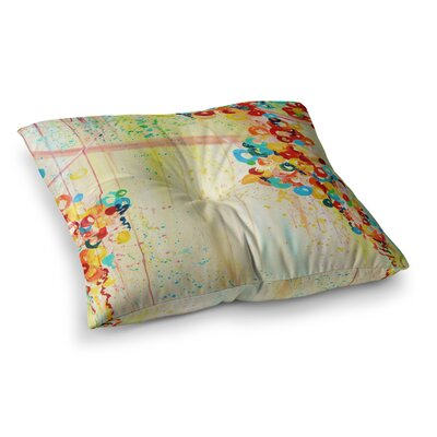 Summer in Bloom by Ebi Emporium Floor Pillow Size: 23 x 23