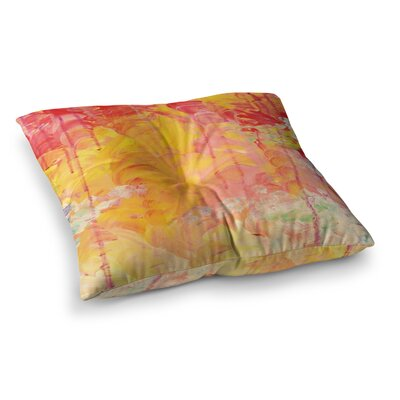 Sun Showers by Ebi Emporium Floor Pillow Size: 23 x 23