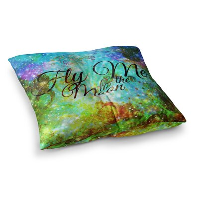 Fly Me to the Moon by Ebi Emporium Floor Pillow Size: 23 x 23