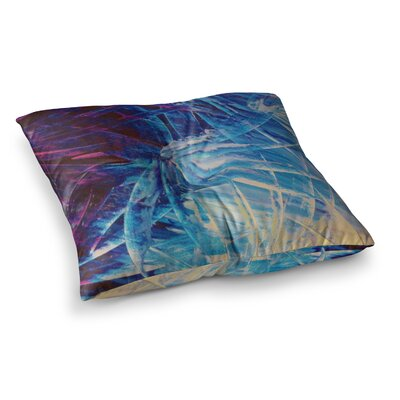 Night Flowers by Ebi Emporium Floor Pillow Size: 23 x 23