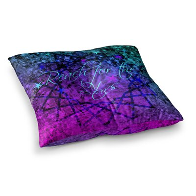 Reach for the Stars by Ebi Emporium Floor Pillow Size: 23 x 23