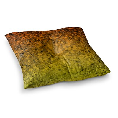 Romance Me by Ebi Emporium Floor Pillow Size: 23 x 23, Color: Tangerine/Gold