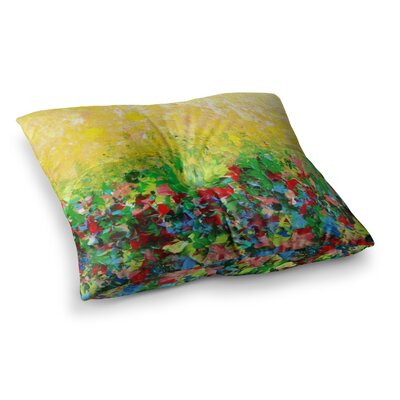 My Paintings by Ebi Emporium Floor Pillow Size: 26 x 26