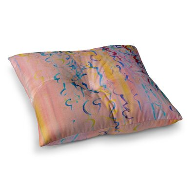 Cotton Candy Whispers Painting by Ebi Emporium Floor Pillow Size: 26 x 26
