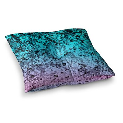 Flower Power by Ebi Emporium Floor Pillow Size: 23 x 23, Color: Blue/Purple