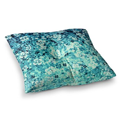 Flower Power by Ebi Emporium Floor Pillow Size: 26 x 26, Color: Teal/Blue