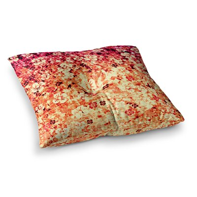 Flower Power by Ebi Emporium Floor Pillow Size: 23 x 23, Color: Red/Orange