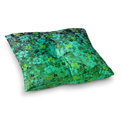 Luck of the Irish Floral by Ebi Emporium Floor Pillow Size: 23 x 23