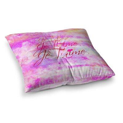 Je Taime by Ebi Emporium Floor Pillow Size: 26 x 26, Color: Pink