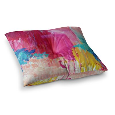 Elated Paint by Ebi Emporium Floor Pillow Size: 23 x 23